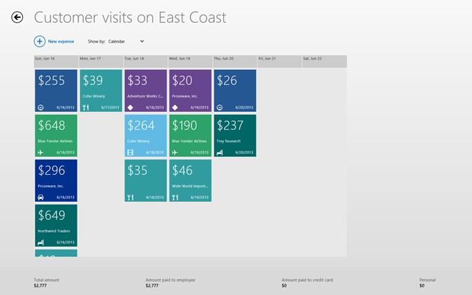 Dynamics AX 2012 Expenses screen shot 2