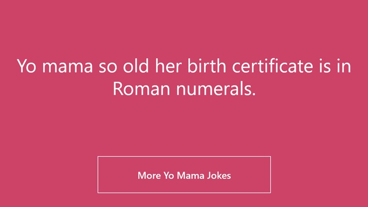 Yo Mama Jokes screen shot 0