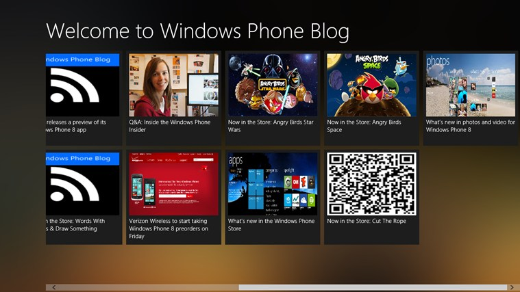 Blog Windows Phone screen shot 0