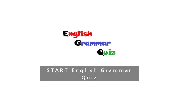 English Grammar Test screen shot 0