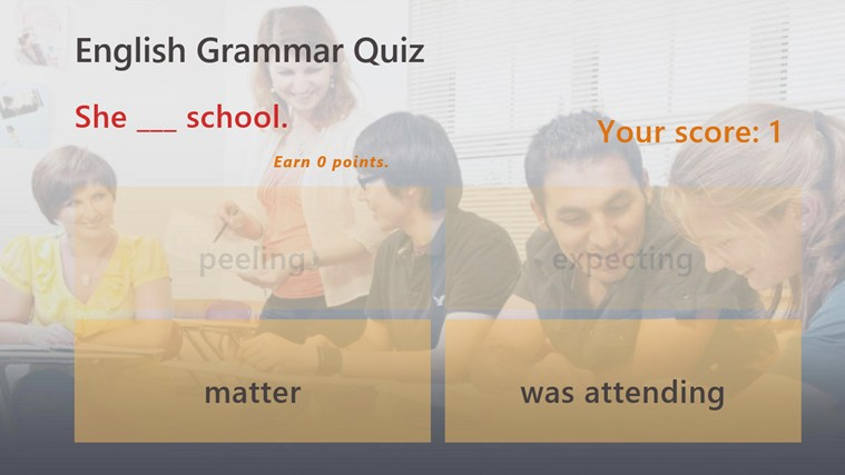 English Grammar Test screen shot 2