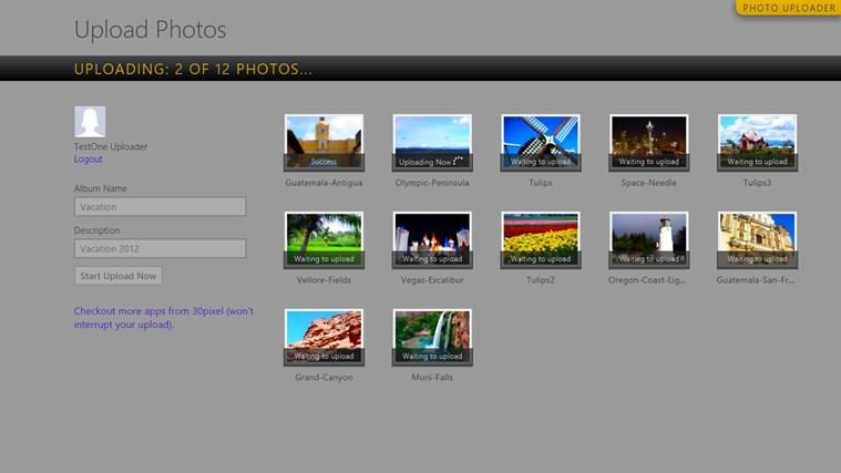 Photo Uploader for Facebook screen shot 6