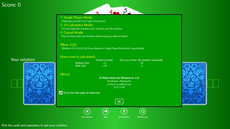 24 Poker Game screen shot 2
