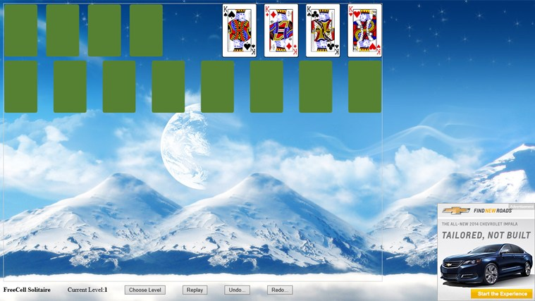 *FreeCell Solitaire screen shot 2