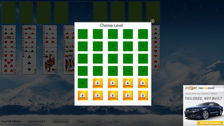*FreeCell Solitaire screen shot 4