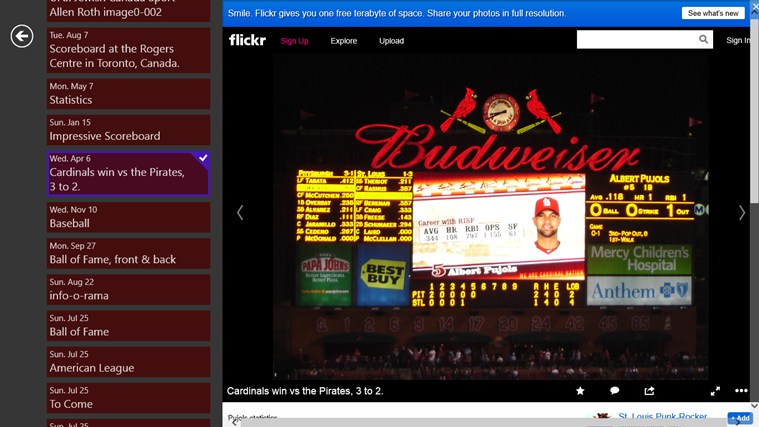 Baseball Stat Info screen shot 4