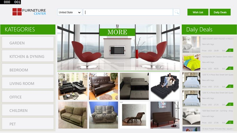 Furniture center app for windows in the windows store for Furniture placement app