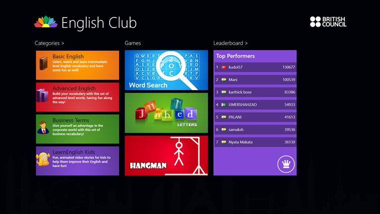 English Club screen shot 0