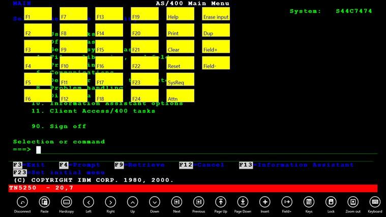 Mocha TN5250 screen shot 2