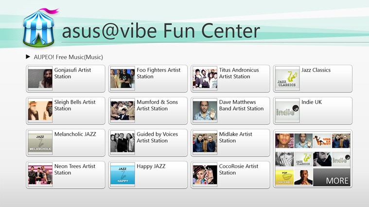 asus@vibe Fun Center screen shot 0