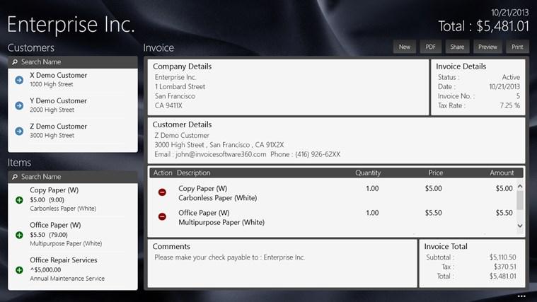 Invoice360 screen shot 0