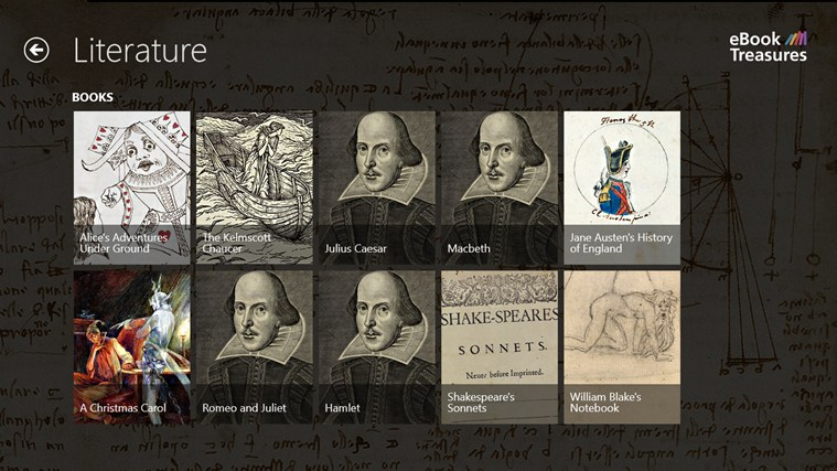 eBook Treasures screen shot 2
