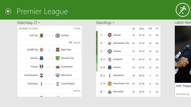 Onefootball screen shot 2