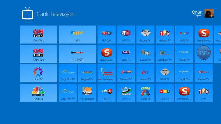 Windows 8 Canlı Televizyon Resimler