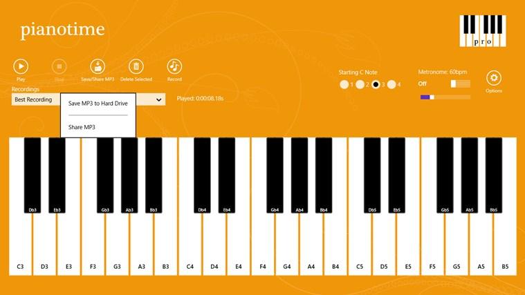 Piano Time Pro screenshot 2