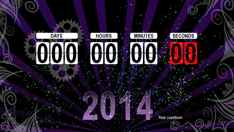 New years countdown app for windows in the windows store