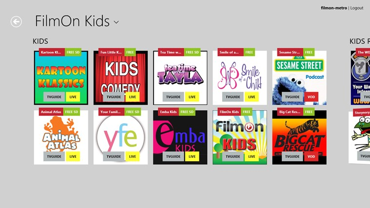 FilmOn Kids screen shot 0