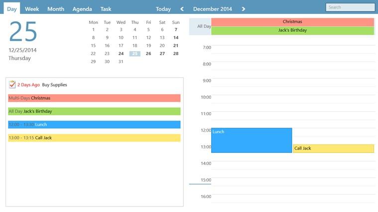 WinPIM Calendar screen shot 0