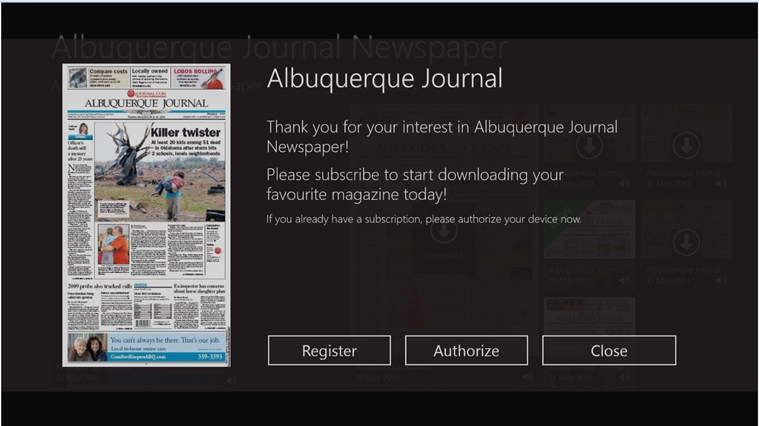 ABQ Journal screen shot 4