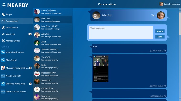 Nearby Live screen shot 4