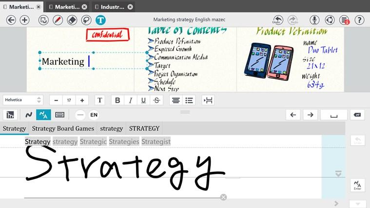 MetaMoJi Note screen shot 2