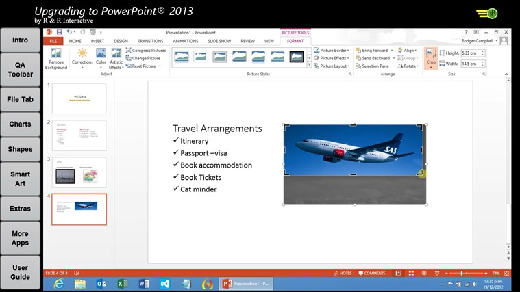 Upgrade to PowerPoint 2013 Tutorials screen shot 2