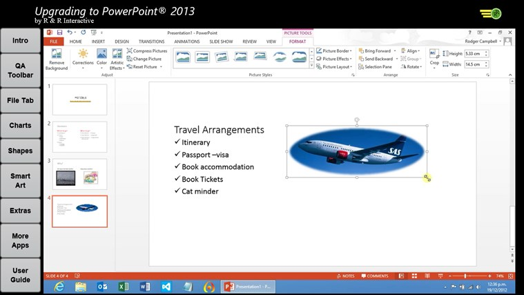 Upgrade to PowerPoint 2013 Tutorials screen shot 4