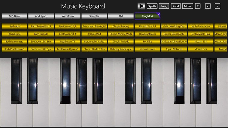 Keyboard instrument app for pc