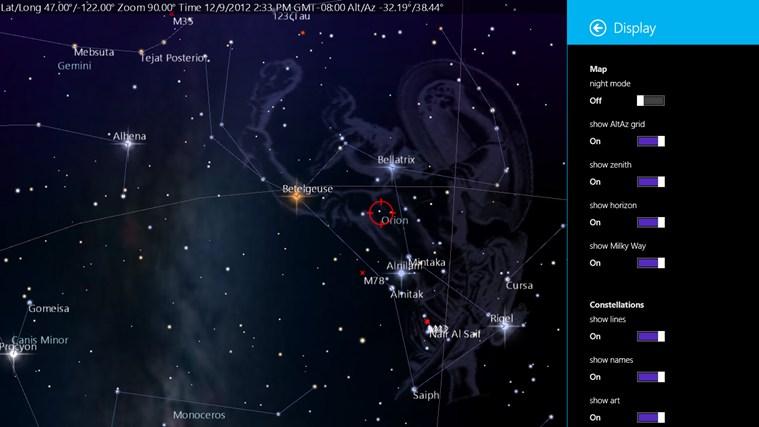 SkyMap screen shot 2