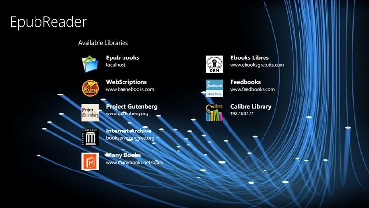 EpubReader captura de tela 0