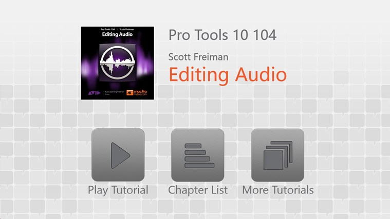 Pro Tools 10 104 - Editing Audio screen shot 0