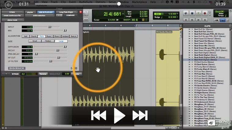 Pro Tools 10 104 - Editing Audio screen shot 4