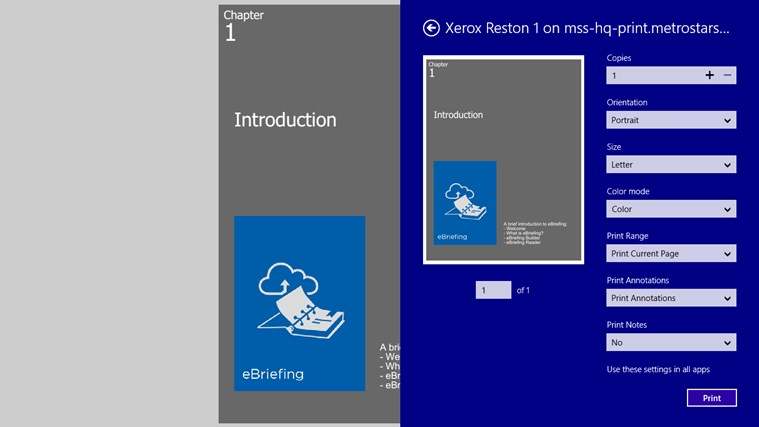 eBriefing screen shot 8