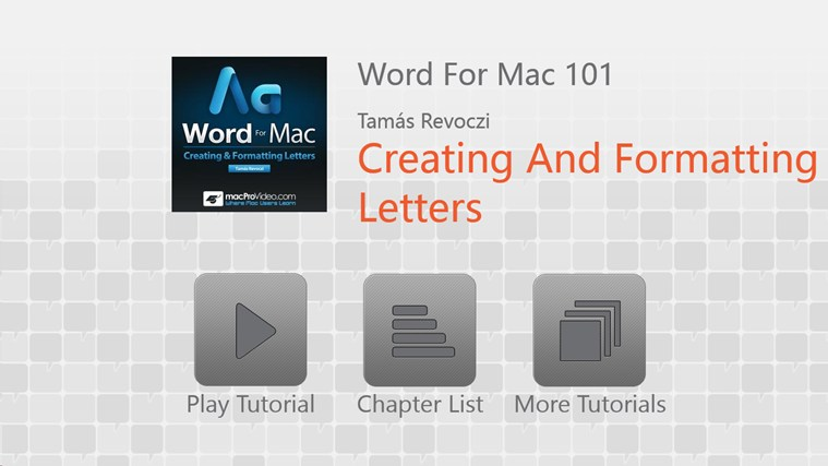 MS Word For Mac: Creating Letters screenshot 0