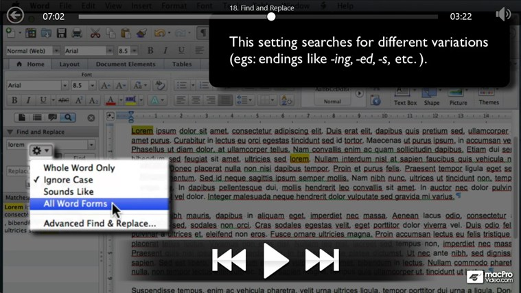 MS Word For Mac: Creating Letters screenshot 4