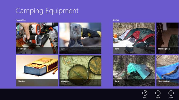 Camping Equipment seswantšho sa sekrini 0