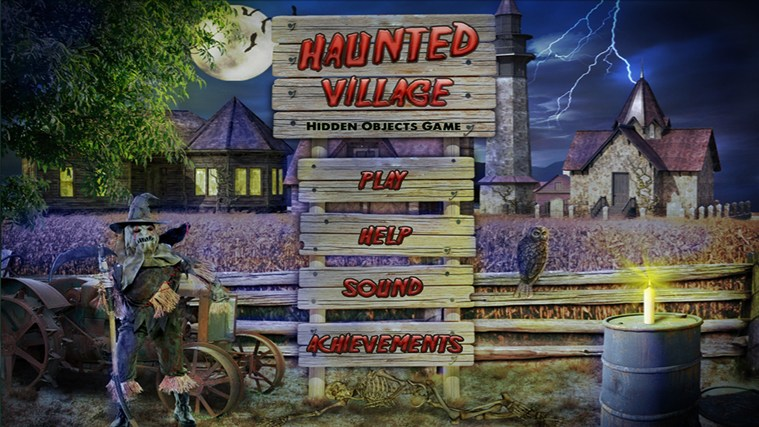 Haunted Village - Hidden Object captura de ecrã 0