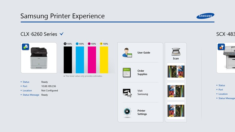 Samsung Printer Experience screen shot 0