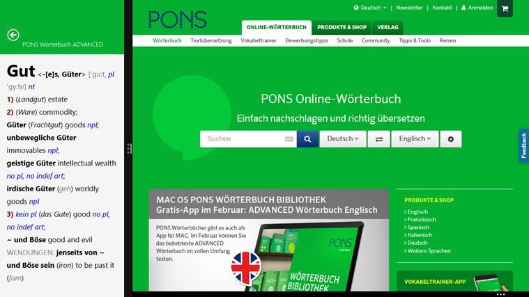 Wörterbuch Englisch <-> Deutsch ADVANCED von PONS Screenshot 4