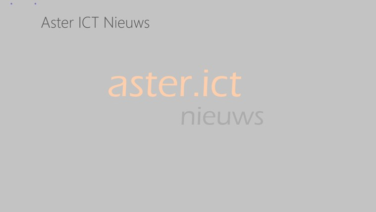 Aster ICT Nieuws screen shot 2