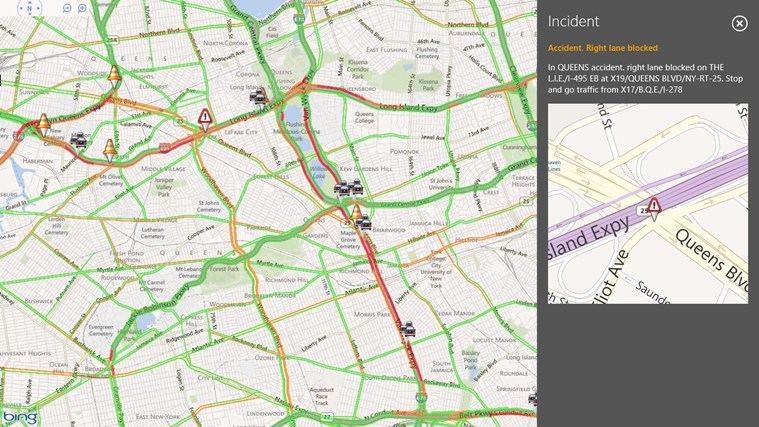 INRIX Traffic screen shot 2