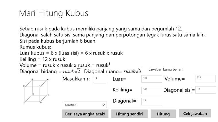 Mari Hitung Kubus screenshot 2