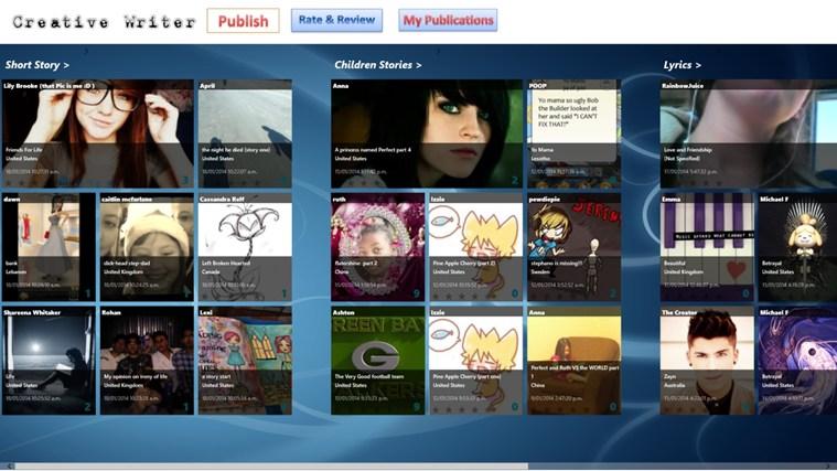Creative Writer screen shot 0