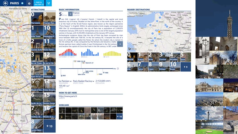 MyTrip screen shot 2