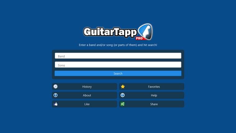 GuitarTapp Pro for Win8 UI screenshot