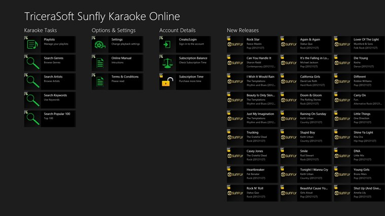 Sunfly Karaoke Online screen shot 0