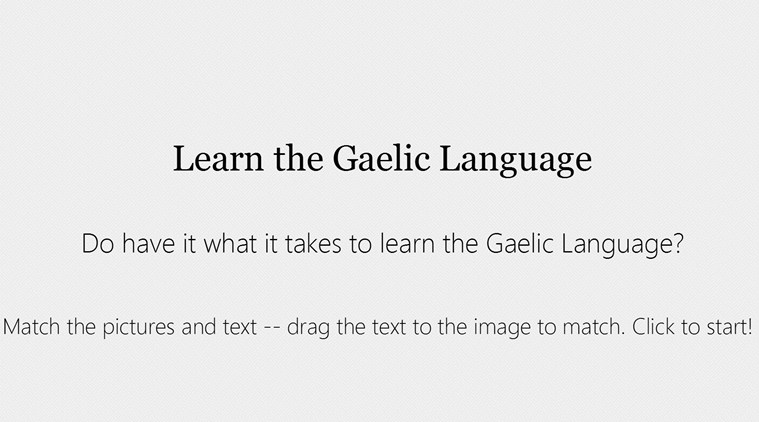 Learning Gaelic screen shot 0
