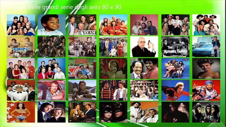 Sigle serie tv anni 80 app per windows in windows store