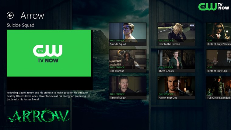 The CW screen shot 2