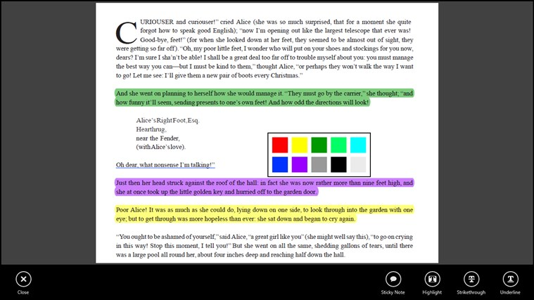 Adobe Reader Touch screen shot 4